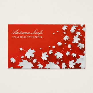 El otoño hojea tarjeta de visita