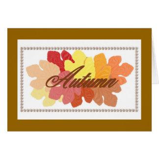 El otoño que piensa en usted carda tarjeta de felicitación