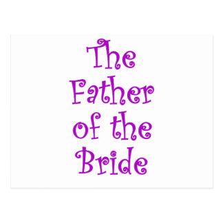 El padre de la novia postal