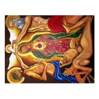 El padre, el hijo, y la postal del espíritu santo