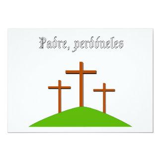 El padre les perdona la tarjeta invitación 12,7 x 17,8 cm
