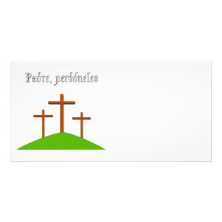 El padre les perdona la tarjeta tarjetas fotográficas personalizadas