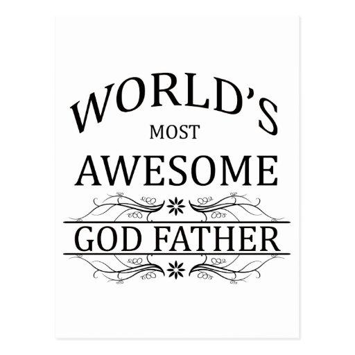 El padre más impresionante de dios del mundo postales