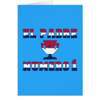 EL Padre Número 1 en colores de la bandera america Tarjeta Pequeña