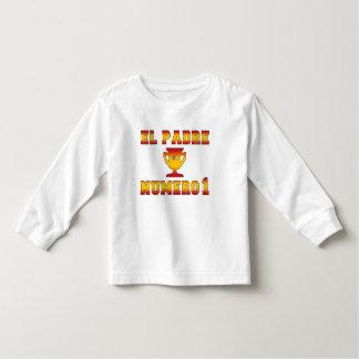EL Padre Número 1 papá #1 en el día de padre Camiseta De Bebé