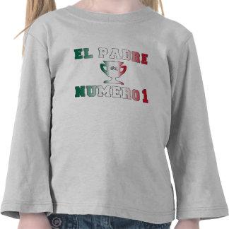 EL Padre Número 1 papá 1 en el día de padre españ Camiseta