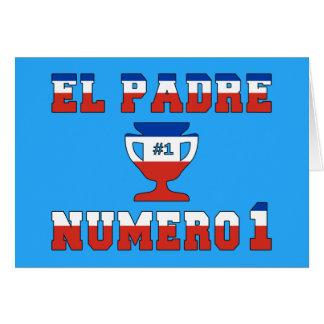 EL Padre Número 1 - papá del número 1 en chileno Tarjeta Pequeña