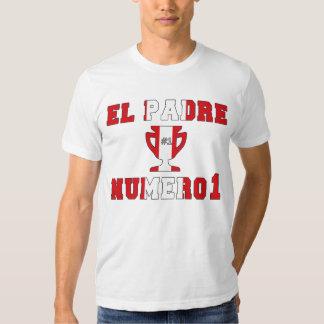 EL Padre Número 1 - papá del número 1 en Peruvian Camisas