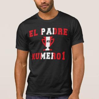 EL Padre Número 1 - papá del número 1 en Peruvian Camiseta