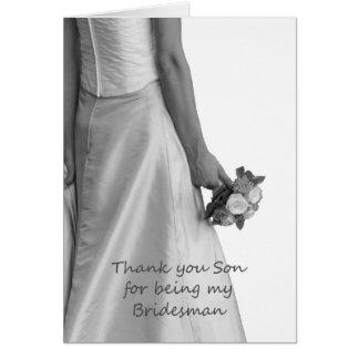 El padrino de boda del hijo le agradece tarjeta de felicitación