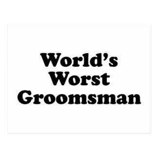 El padrino de boda peor del mundo tarjeta postal