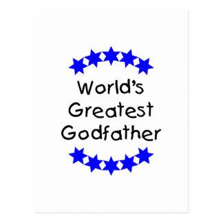 El padrino más grande del mundo (estrellas azules) postal