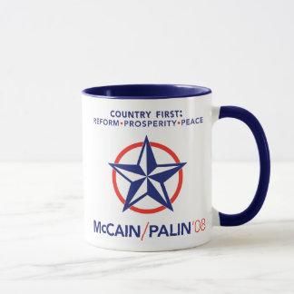 El país de McCain/Palin primero protagoniza la Taza