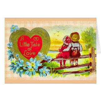 El país embroma la tarjeta del amor del boda
