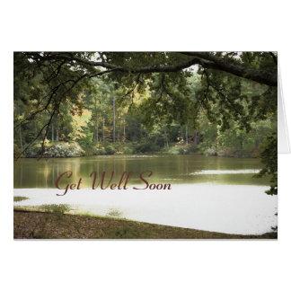 El paisaje del lago, consigue bien pronto tarjeta de felicitación