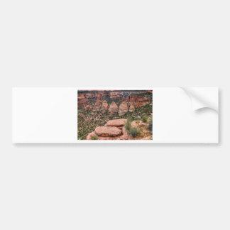El paisaje occidental de la formación de roca de pegatina para coche