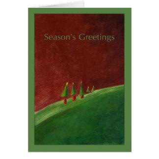 El paisaje sazona la tarjeta de felicitaciones