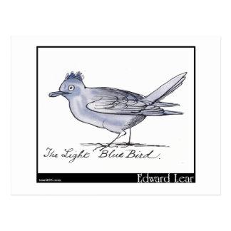 El pájaro azul claro de Edward Lear Postal