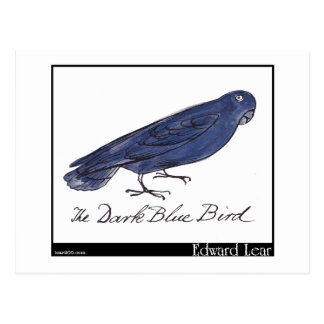 El pájaro azul marino de Edward Lear Tarjeta Postal