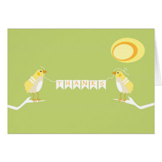 Yellow Nature Themed Modern Bird Thank You Card