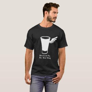 El pájaro no puede volar el ala del pon uno camiseta