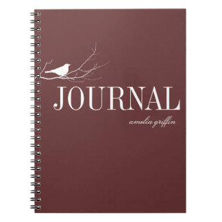 El pájaro se encaramó en el diario del personaliza libretas espirales