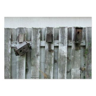 El pájaro viejo contiene el ~ rechoncho tarjetas de visita grandes