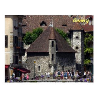 El Palais de l'Isle en Annecy histórica, Francia Postal