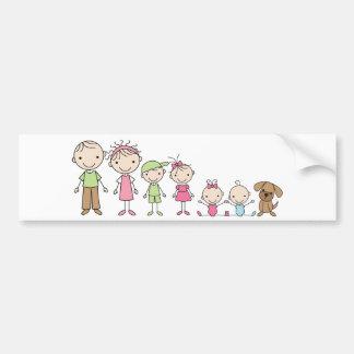El palillo de la familia figura a pegatinas para pegatina para coche