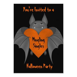 El palo de vampiro amoroso divertido de Halloween Invitación 12,7 X 17,8 Cm