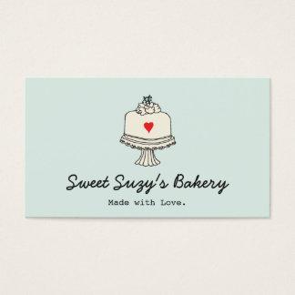 El panadero lindo de la torta cuece la tienda tarjeta de negocios