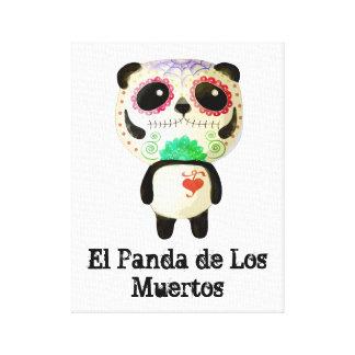 El Panda de Los Muertos Impresion En Lona