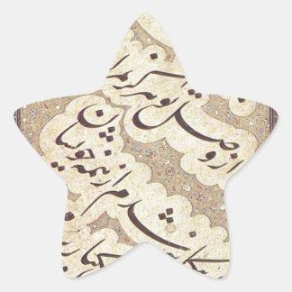 El panel de Chalipa por MIR Emad Hassani Pegatina En Forma De Estrella