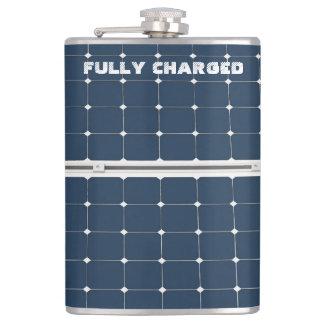 El panel de la célula solar petaca