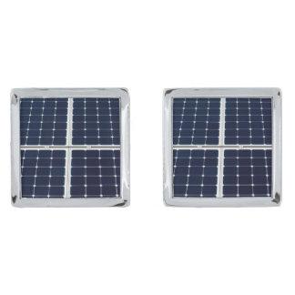 El panel de la energía solar gemelos plateados