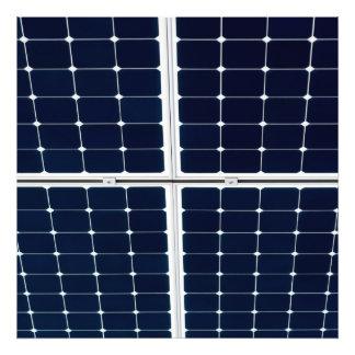 El panel de la energía solar impresión fotográfica