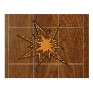 El panel de madera americano de la ESTRELLA WALLNU Postal