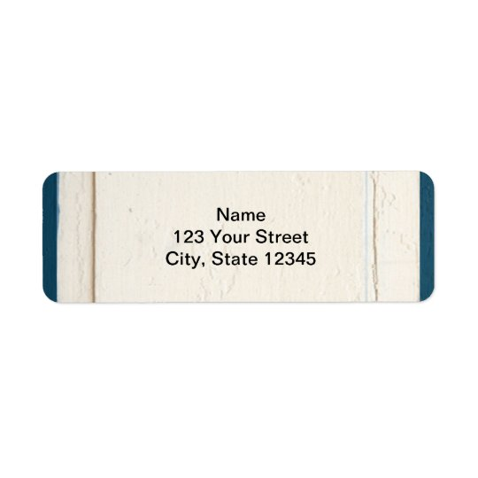 El panel de madera azul y poner crema etiqueta de remite