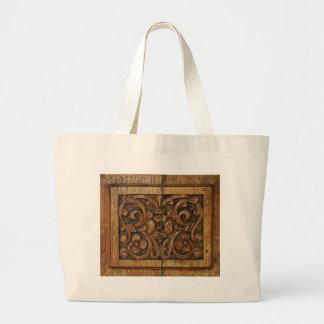 el panel de madera bolso de tela gigante