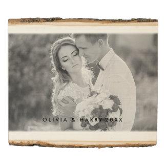 El panel de madera de la foto del boda rústico -