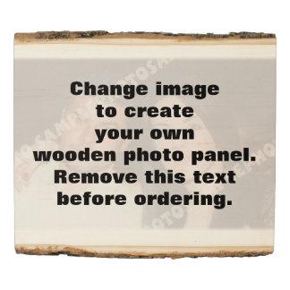 El panel de madera personalizado de la foto. ¡Haga