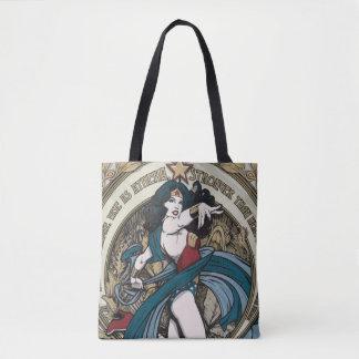 El panel de Nouveau del arte de la Mujer Maravilla Bolsa De Tela