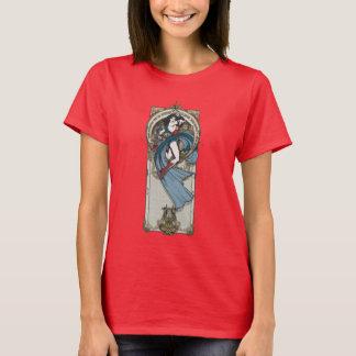 El panel de Nouveau del arte de la Mujer Maravilla Camiseta