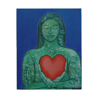El panel de pared de madera del amor del uno mismo