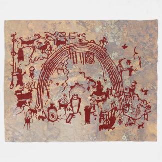 El panel del petroglifo manta polar