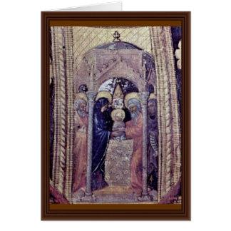 El panel del Polyptych-Side de Quaratesi: San Nico Felicitacion