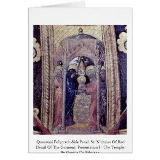 El panel del Polyptych-Side de Quaratesi: San Nico Tarjetón