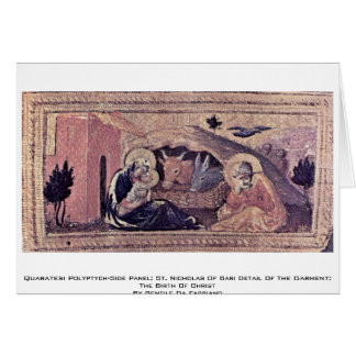 El panel del Polyptych-Side de Quaratesi: San Nico Tarjeta De Felicitación