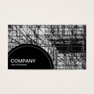 El panel del semicírculo (puntos) - andamio tarjeta de negocios
