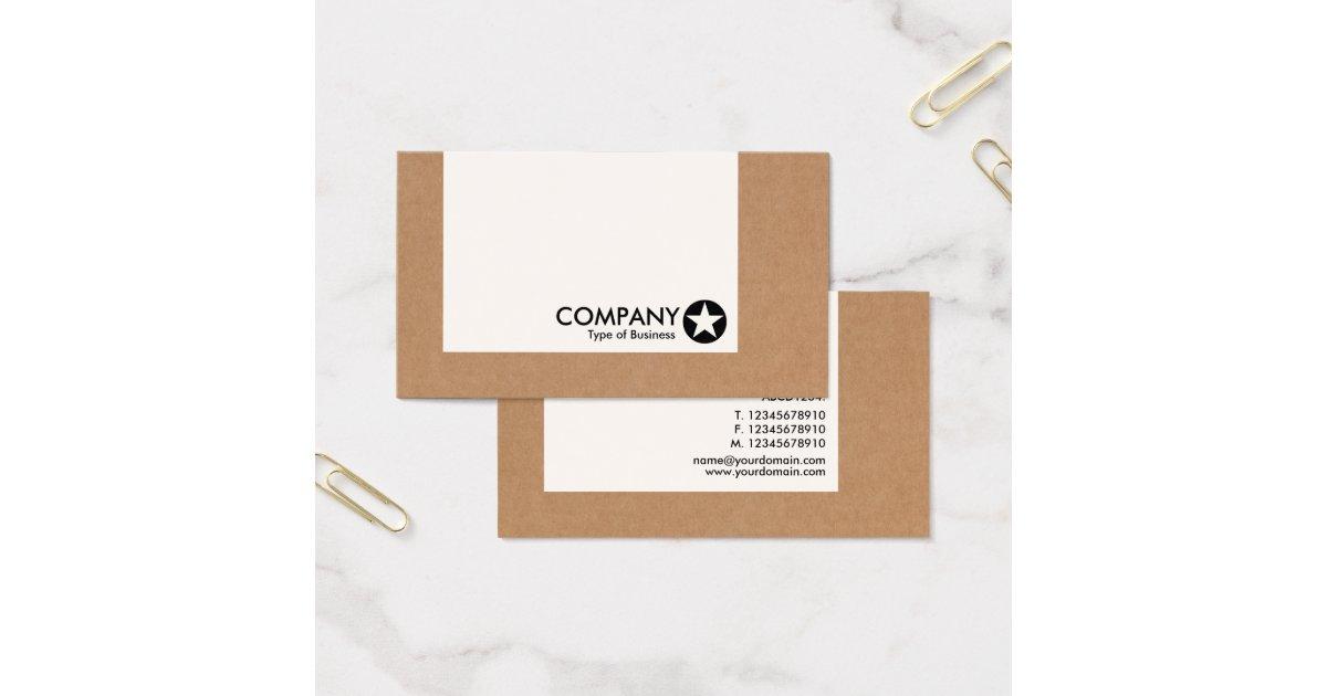 El panel estrella caja de cart n tarjeta de visita for Oficina 0182